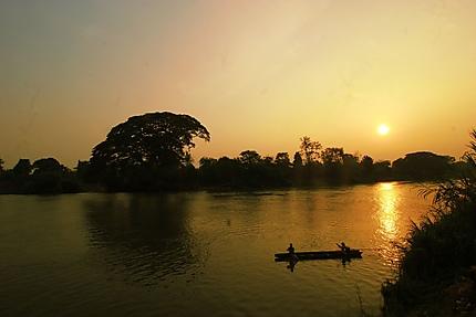 Barque sur le Mékong