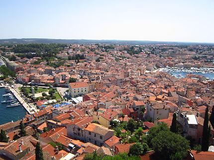 Vue de Rovinj depuis le campanile