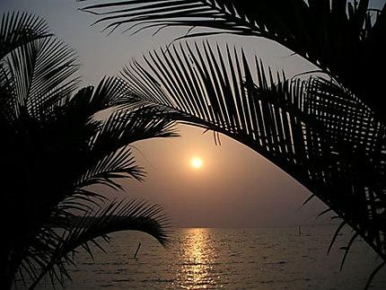 Coucher de soleil sur le Wouri