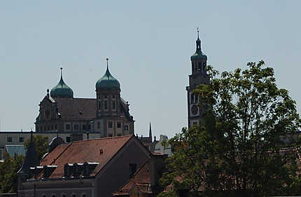 Mairie d'Augsbourg et tour Perlach