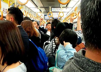 Dans une rame du métro
