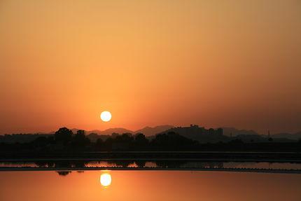 Coucher de soleil à Cagliari