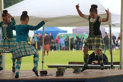 Concours de danse aux Highland games