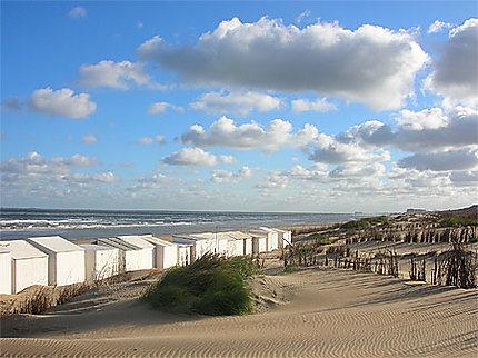 Cabines à la côte belge