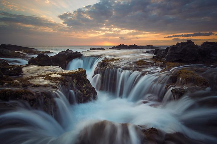 Tubes de lave à Kona, Hawaii