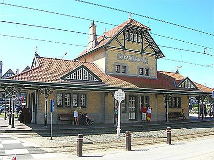 Gare de tram retro 1900