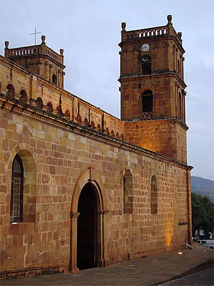 La Catedral de Barichara au coucher de soleil