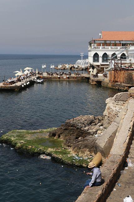 Partie de pêche à Beyrouth