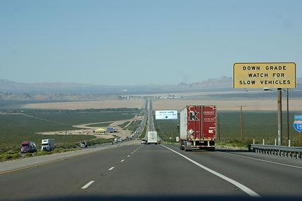 Arrivé sur Las Vegas par la route I-15 N