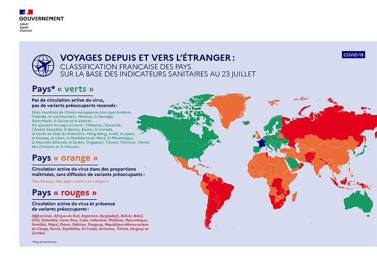 Covid-19 - Voyages à l'étranger : les règles de circulation au départ de/vers la France