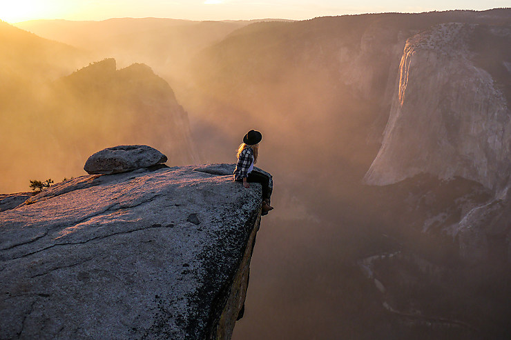 Coucher de soleil flamboyant, Yosemite National Park, Californie