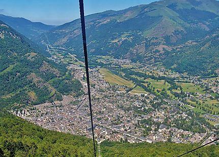 Luchon vue des Pyrénées