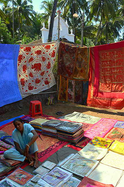 Le marché aux puces d'Anjuna