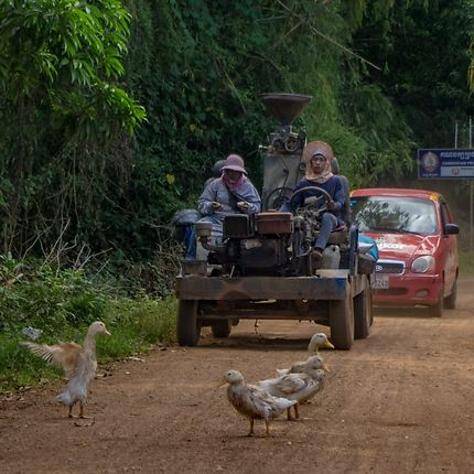 Truck on the Khmer road