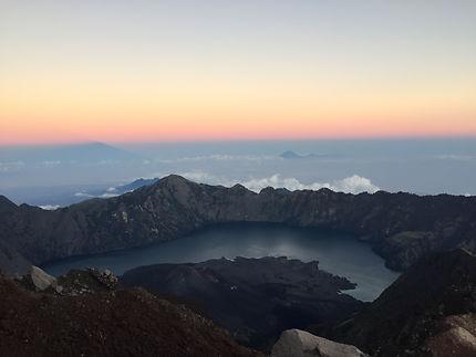Sunrise at Mount Rinjani Lake