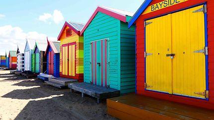 Brighton Beach - Cabanons peints