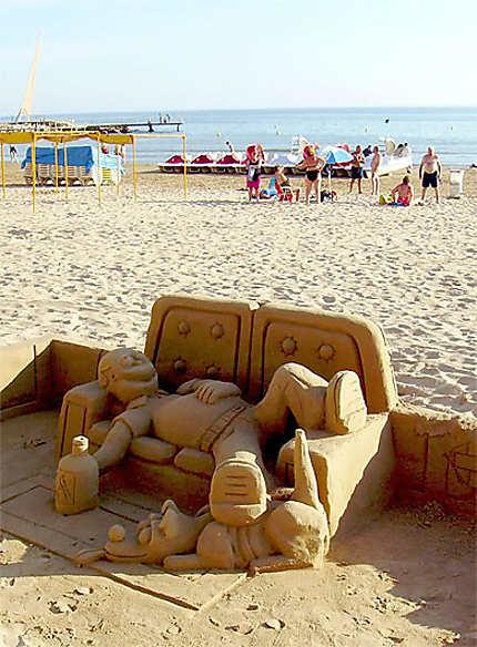 Château de sable Homer Simpson