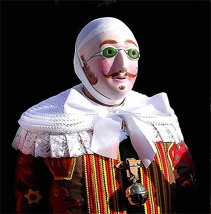 Le Gille de Binche avec son masque