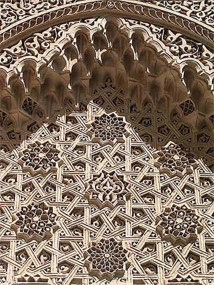 Stuc du palais de la Bahia de Marrakech