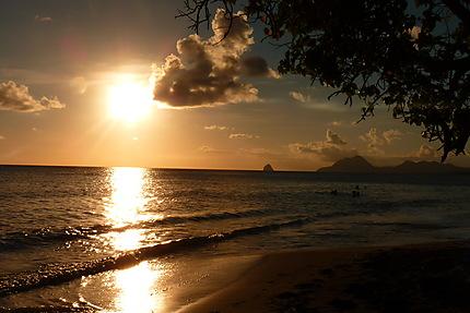 Rocher du Diamant au coucher du soleil