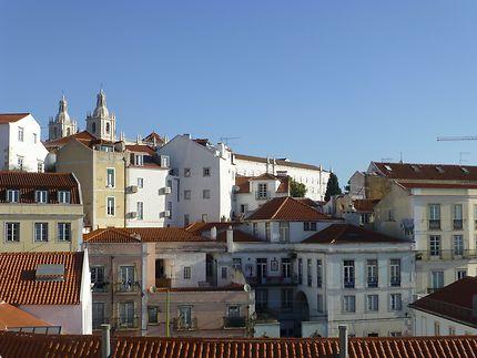 Les hauteurs de l'Alfama, Lisbonne