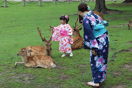 Kimonos à Nara