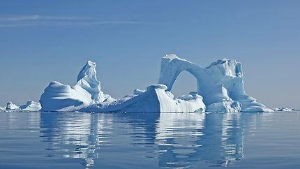Une merveille du champ d'iceberg de Savissivik