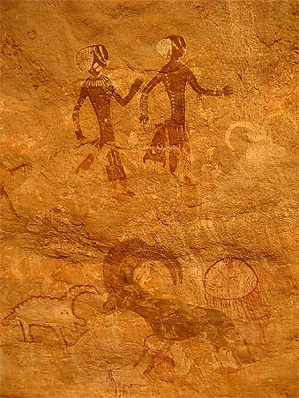 Peinture Rupestre Sahara Algerien Algerie Routard Com