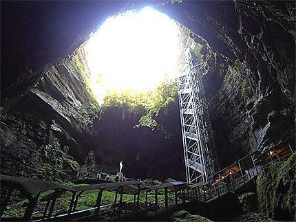 A l'intérieur du gouffre de Padirac