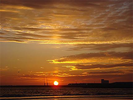 Coucher de soleil d'Agadir