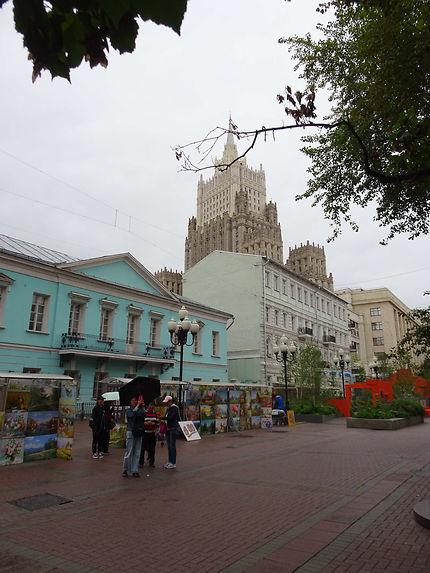 Sous la pluie de Moscou