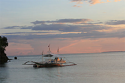 Couché de soleil à Malapascua