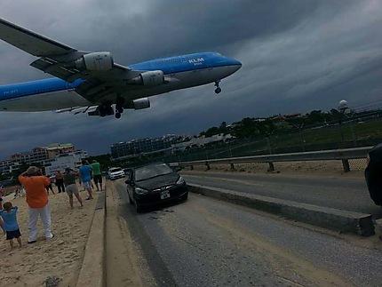 Atterrissage à Saint Martin