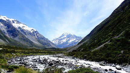 En marche vers le Mont Cook