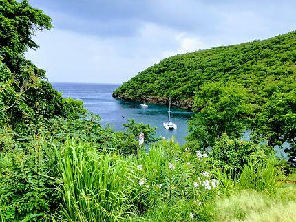 Belle vue du haut de l'Anse Dufour
