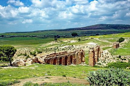 Aqueduc de Zaghouan sur l'oued Gouissate