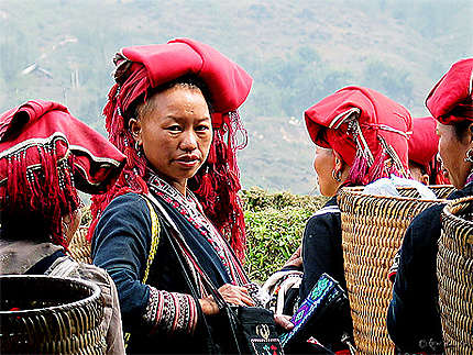 Hmongs rouges du nord de Vietnam