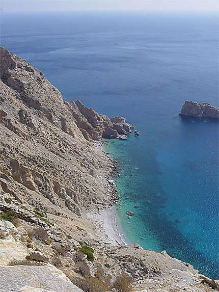 Les falaises d'Amorgos