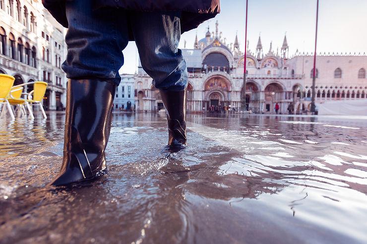 Acqua alta : Venise à marée haute