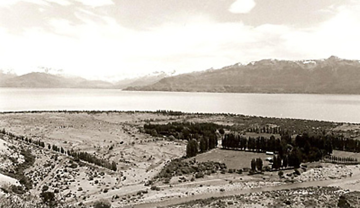 La frontière du Chili et de l'Argentine