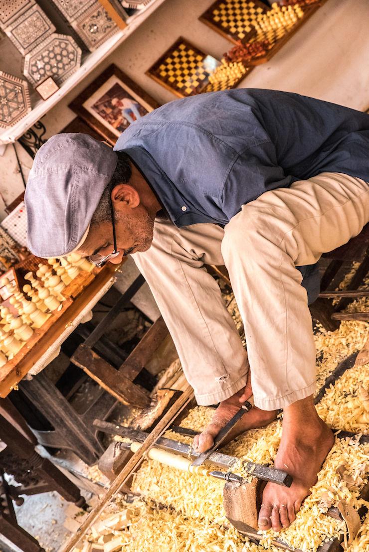 Travail du bois à Marrakech