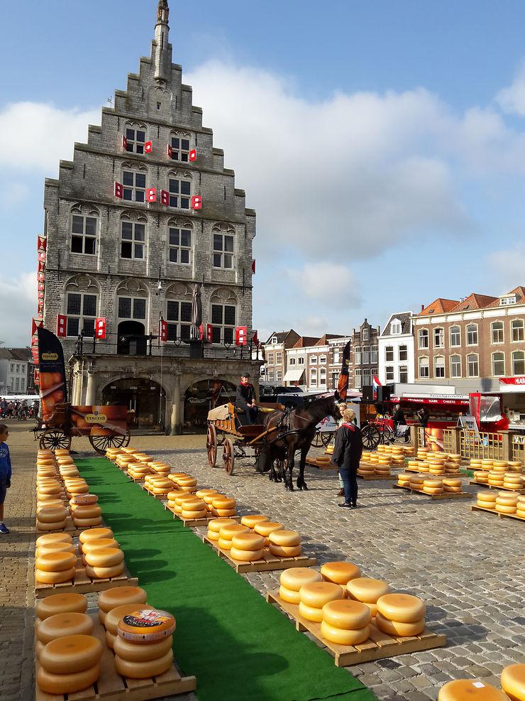 Le marché du Gouda, Pays-Bas