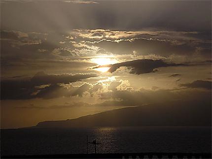 Coucher de soleil sur Gomera