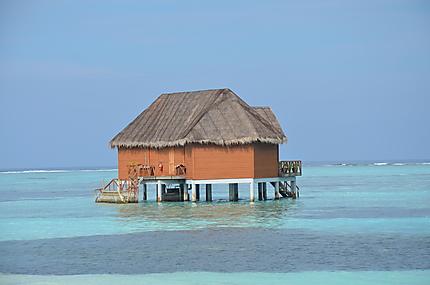 Sur la plage Atoll de Meeru