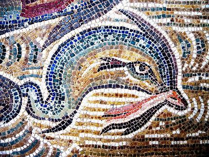 Mosaïque romaine de dauphin