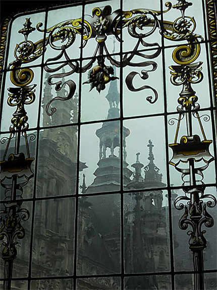 Décoration des vitres du palais