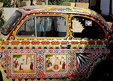 Fiat 500 folklorisée