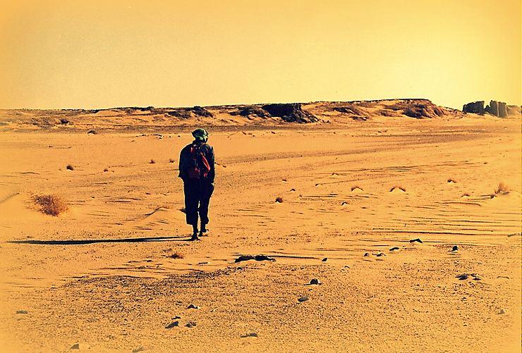 Le marcheur, Sahara algérien