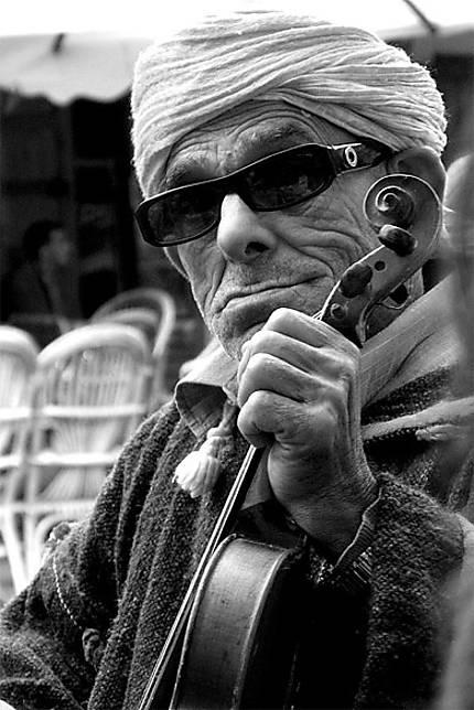 Wrinkled Musician