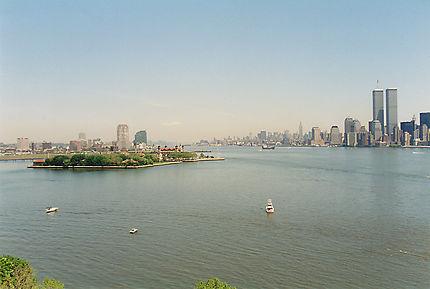 Vue de New-York depuis la baie de l'Hudson